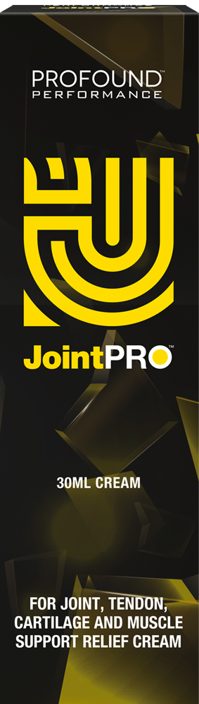 Joint PRO yellow logo on a dark yellow geometric background