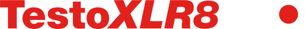 TestoXLR8 PRO red and white logo